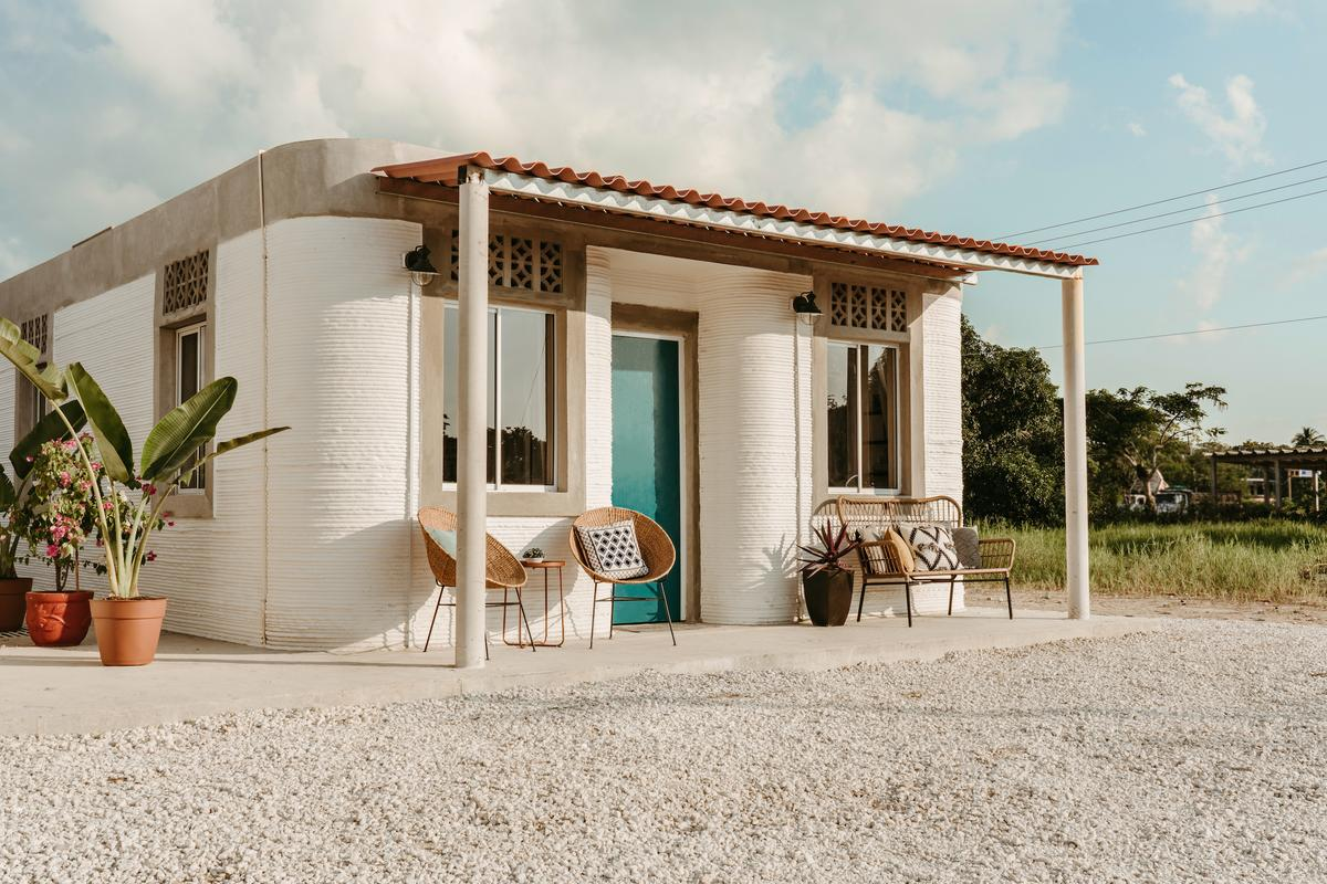 This 3D-printed housing project, which was created in partnership with Icon and Échale, is located in Tabasco, southeastern Mexico