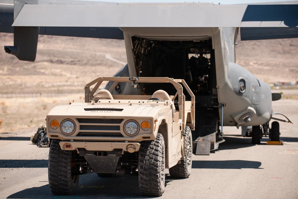The Phantom Badger deploying from an Osprey