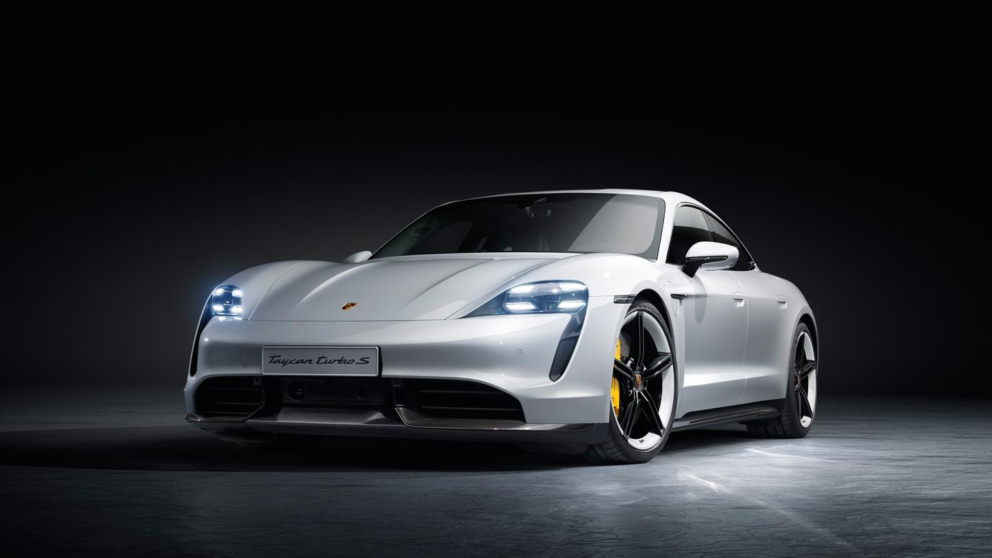 Porsche has finally launched its all-electric four-door Taycan Turbo supercars