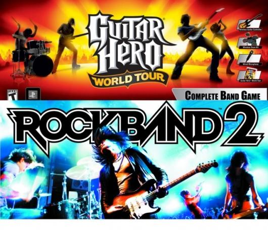 Guitar Hero World Tour vs Rock Band 2