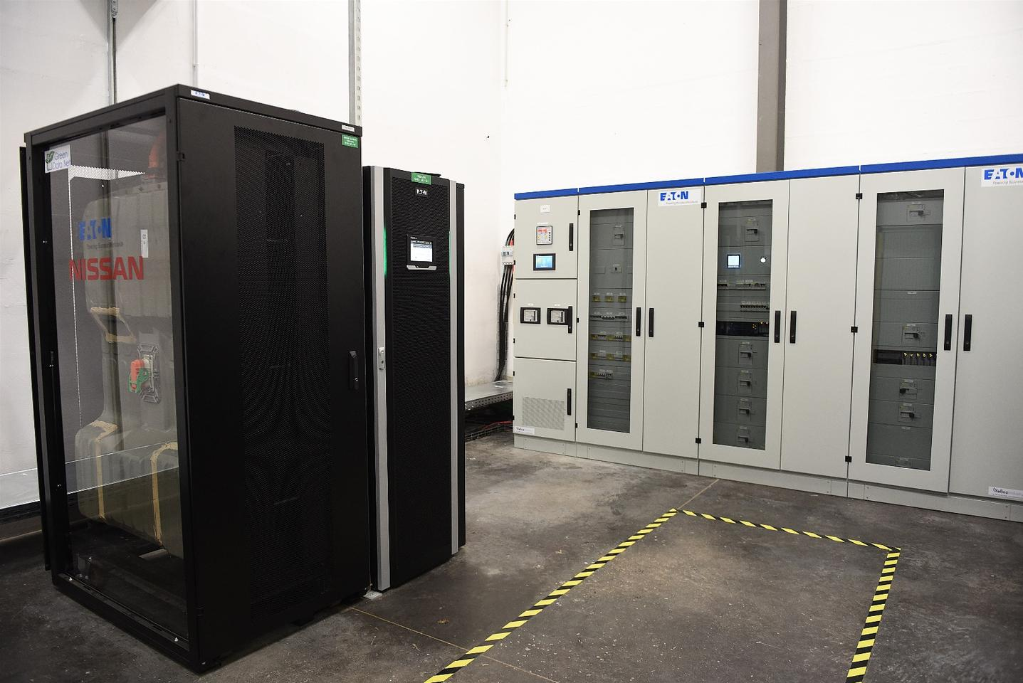 Nissan has teamed up with Eaton to repurpose old Leaf EV batteries forstoring renewable energy in data centers