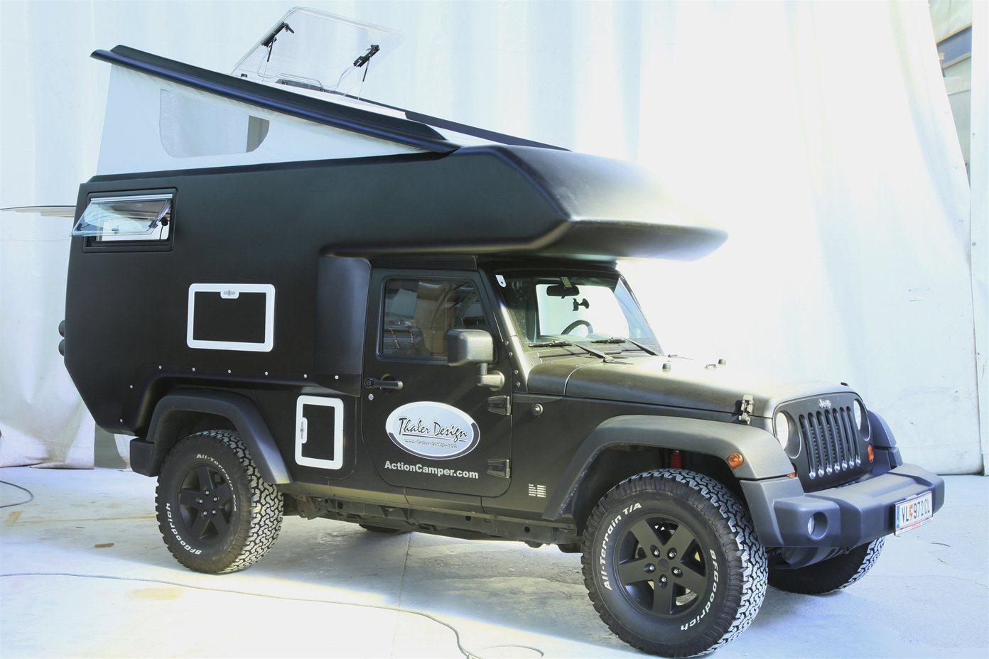 The Action Camper makes your Jeep an all-terrain RV
