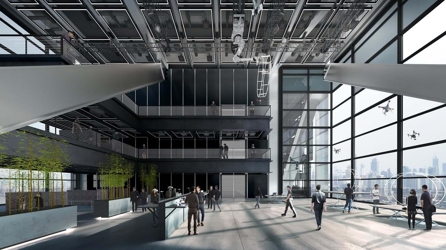 The interior layout of the buildings will be carefully designed to allow DJI to test its drones