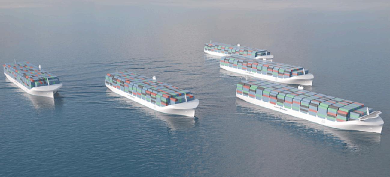 A robot fleet under way
