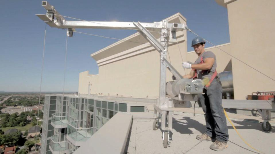 SAM's rooftop-mounted rigging system