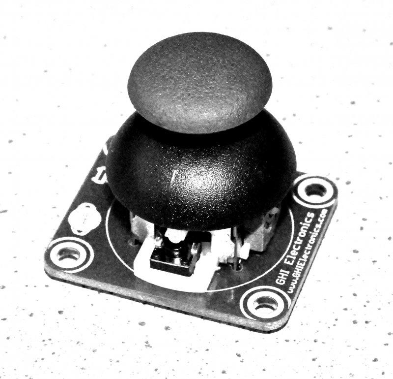 A hat-type analog joystick module with push-button for .NET Gadgeteer