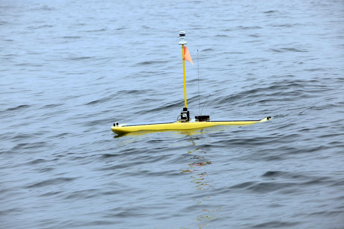 Wave Glider robots are being deployed as part of an extensive marine life tracking network (Photo: Stanford University, Kip Evans)