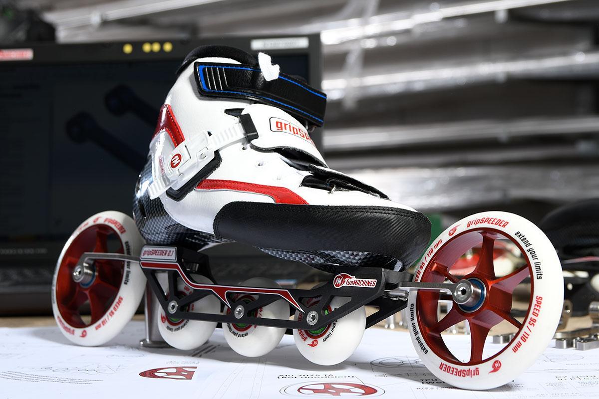 gripSPEEDER features both grip wheels and speed wheels