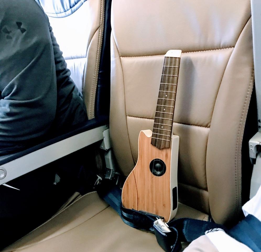 """""""Despite ukulele's being already relatively small, I still struggled with portability and durability,"""" said CandaceChen, designer of the Ava travel uke"""