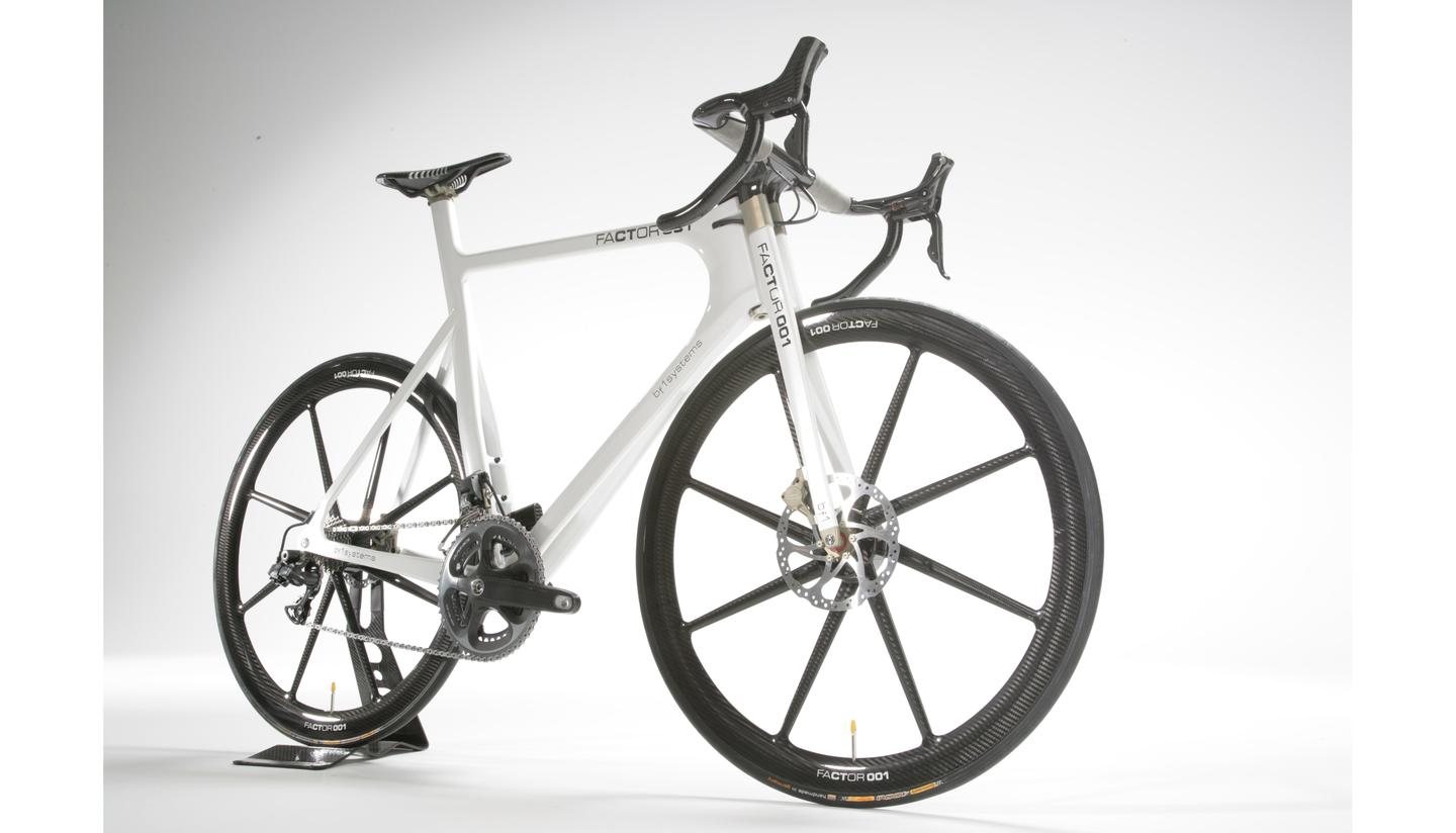 F1 inspired Factor 001 bicycle on sale at Harrods