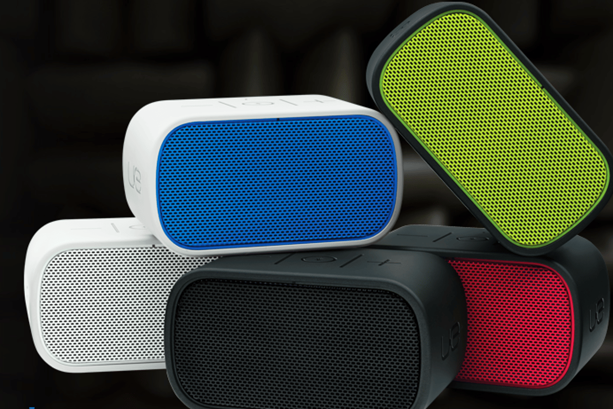 Logitech's UE Mobile Boombox in its five different color choices