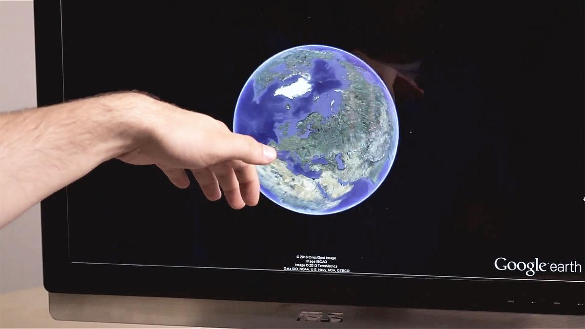 Google Earth on desktops was just updated with support for Leap Motion gesture control