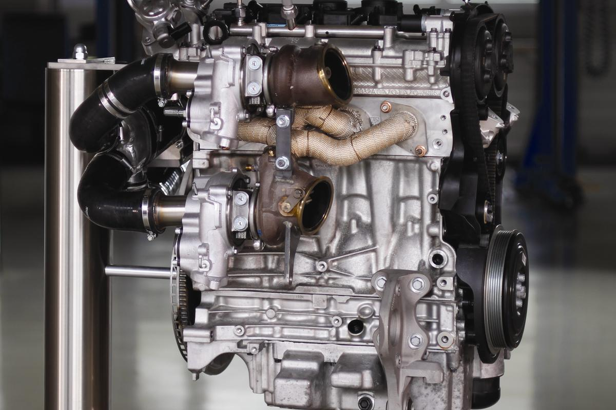 The high powered engine is also designed to improve weight distribution between the front and rear axle and lower the center of gravity, for race and street vehicles