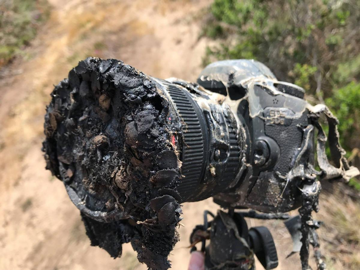 Camera melted by the launch of a SpaceX Falcon 9 launch on Tuesday