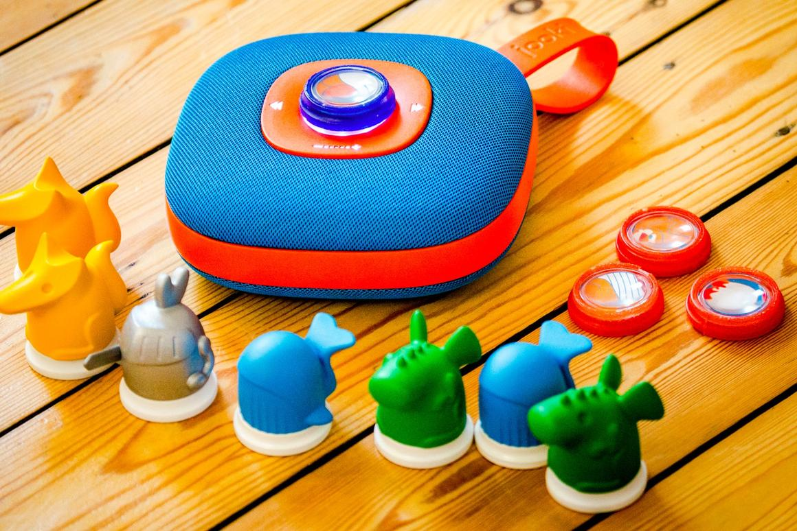 TheJooki digital jukebox for kids, which uses NFC-enabled play figurines to control music playback