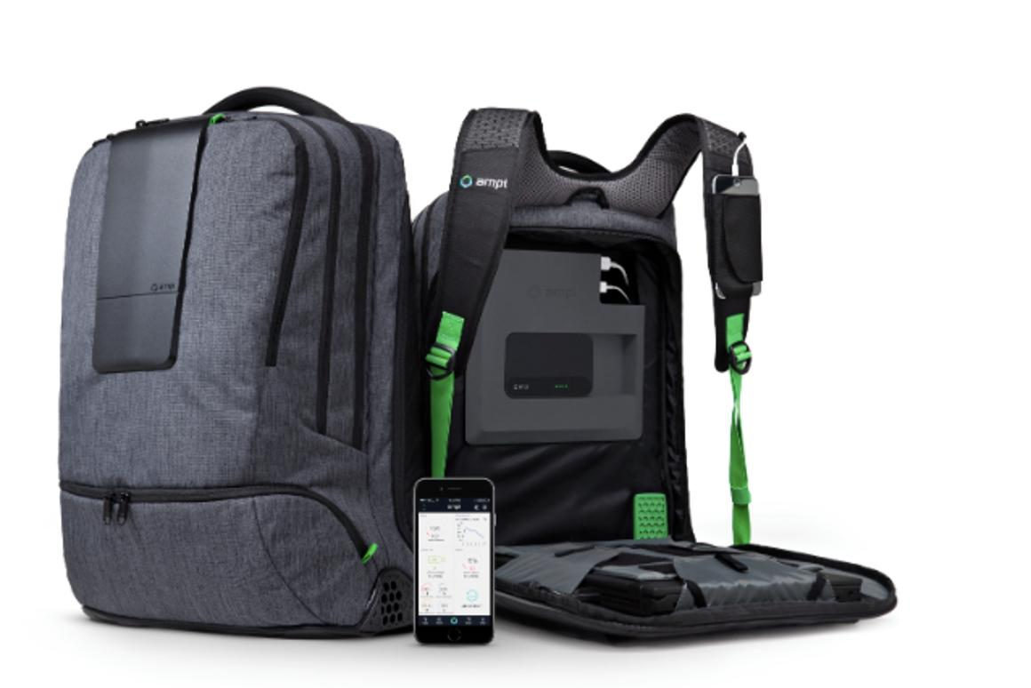 The Smartbag is fully wired for gadget charging