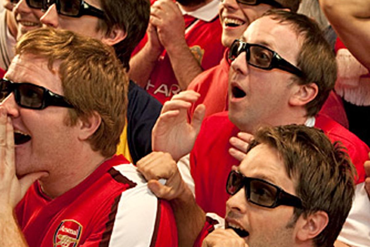Football fans will be able to enjoy games in 3D in pubs and clubs around the UK and Ireland on Sky 3D