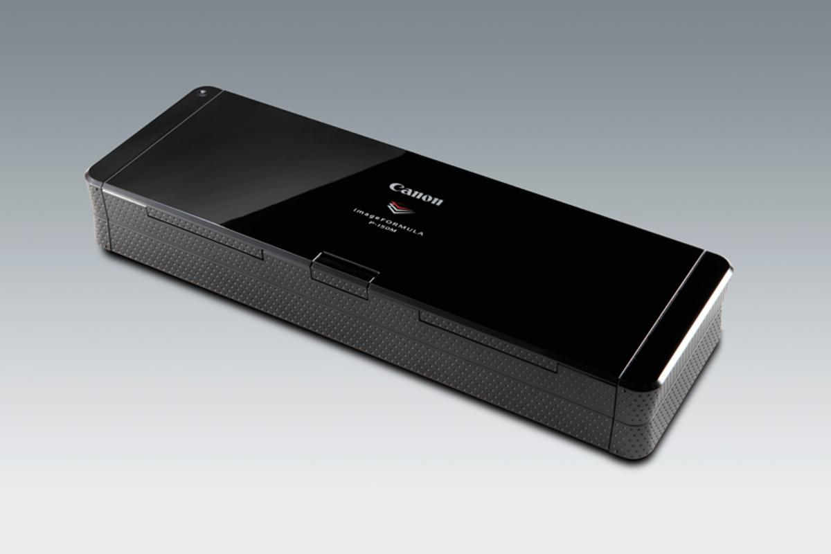 The Canon imageFORMULA P-150m Scan-tini personal document scanner