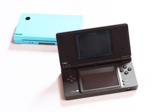 The color options at launch for the Nintendo DSi