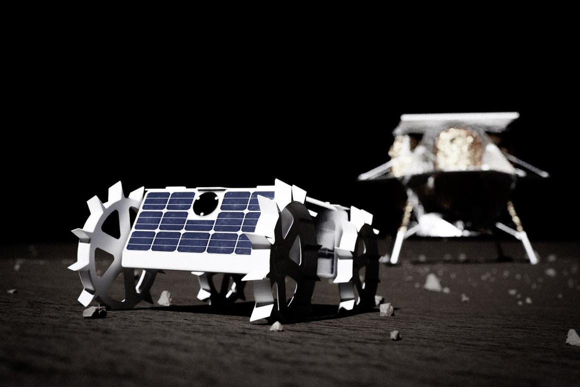 A model of the CMU lunar rover