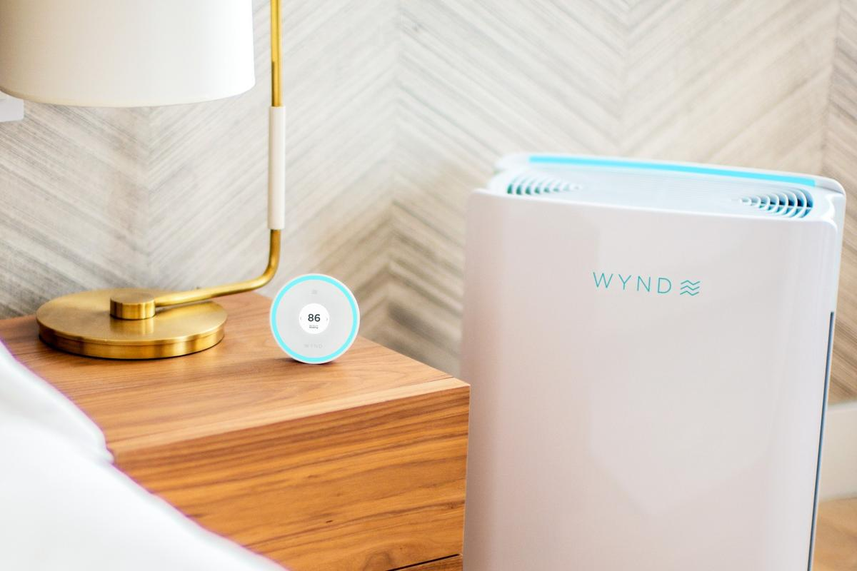 The Halo and Home Purifier can communicate with each other, via an app, and both monitor and clear the air in your house in real-time