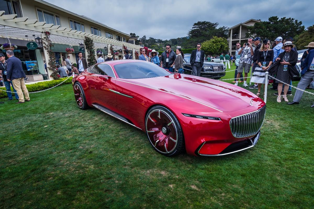 The Vision Mercedes-Maybach 6 looking mean in Monterey