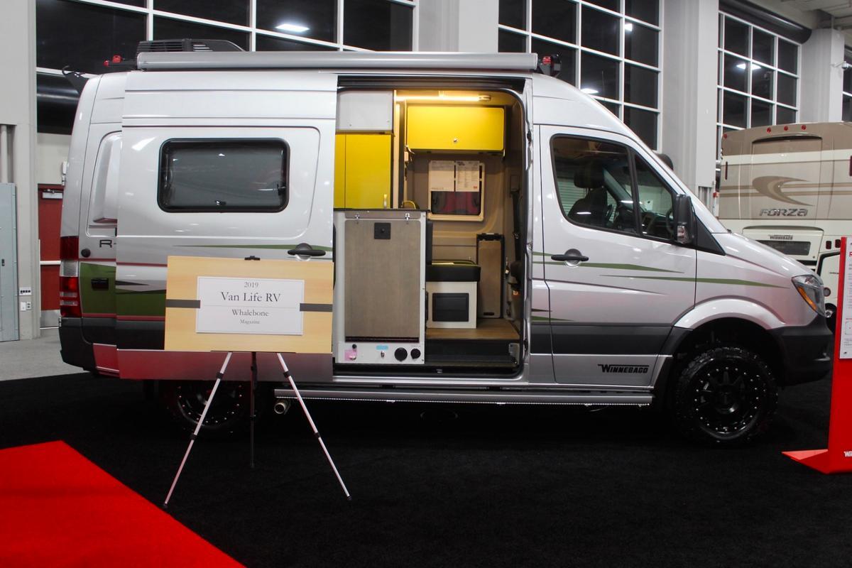 Winnebago shows the $149K+ Revel 4x4adventure camper van