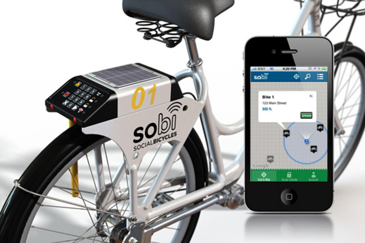Sobi is a new bicycle-sharing system, that uses GPS and a mobile phone app for locating and reserving bicycles (Photo: sobi)