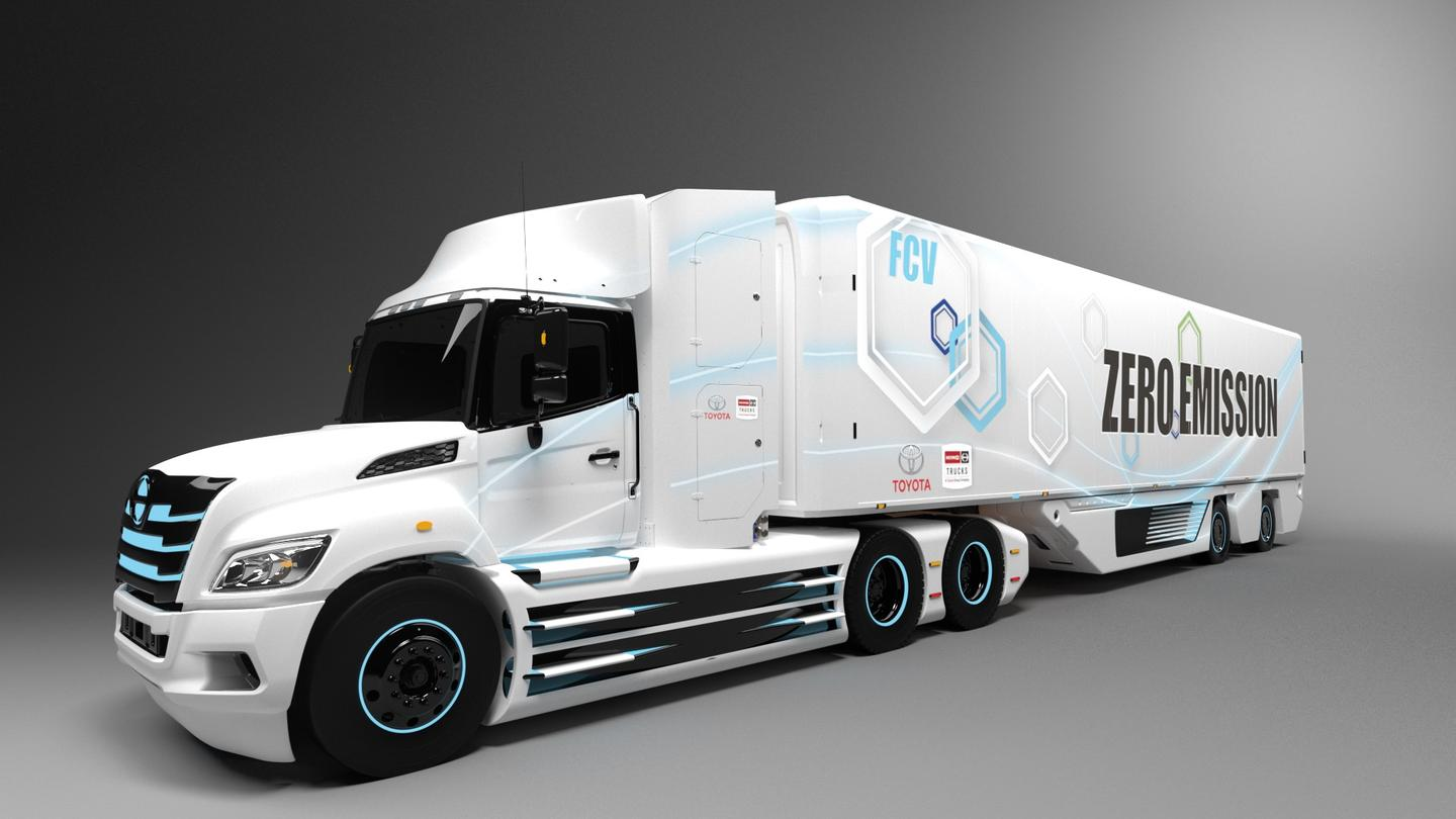 Toyota's fuel cell technology will be paired with Hino's XL Series chassis to create a Class 8 fuel cell electric truck