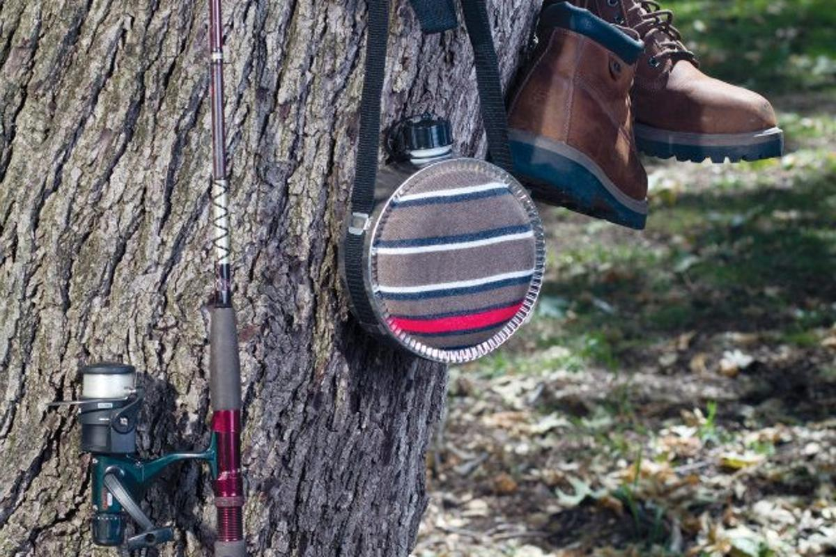 Cinch To Hang adds some storage to your yard or campsite