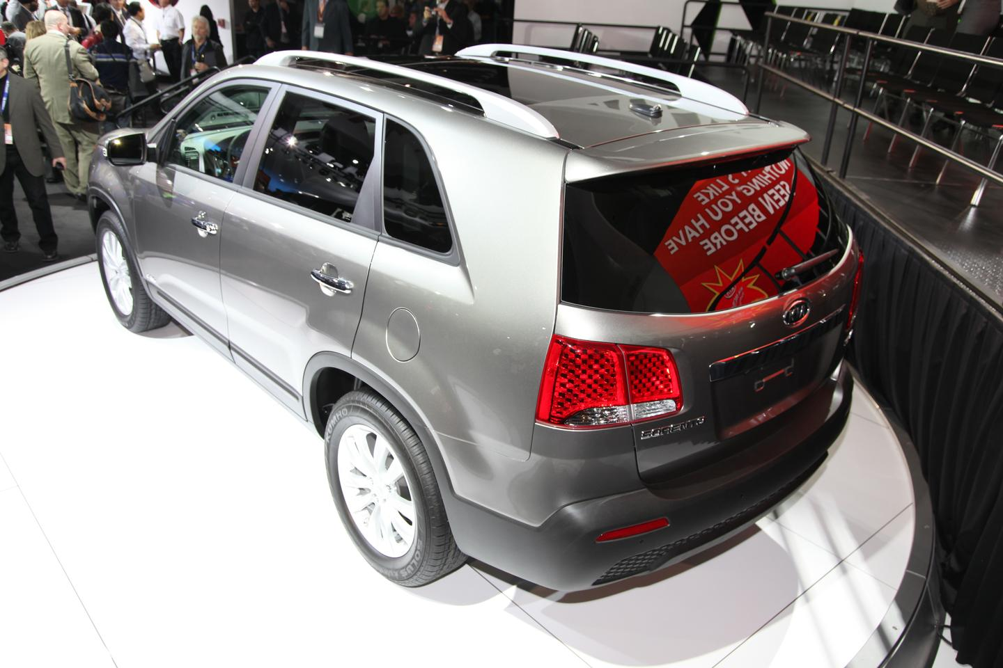 The Kia Sorento which will feature the UVO system