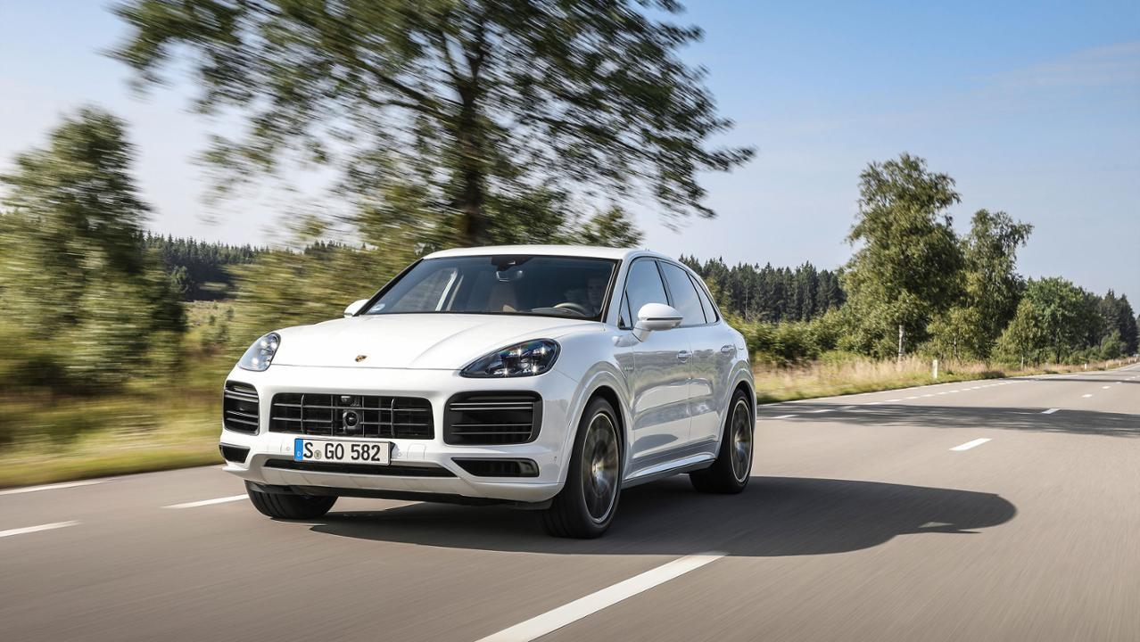 The Cayenne Turbo S E-Hybrid has a limited top track speed of 183 mph (294 km/h)