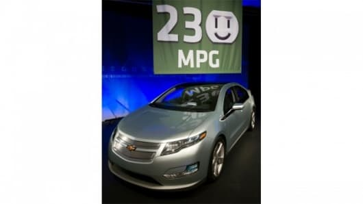 GM expects the Chevrolet Volt to get 230 mpg