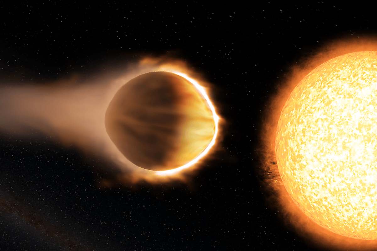 WASP-121b's atmosphere is so hot that water molecules glow