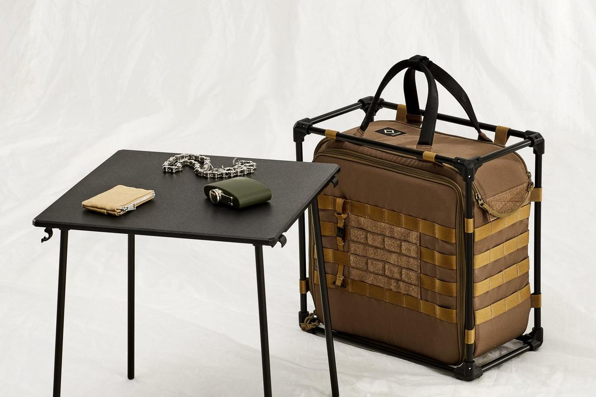 The table can be used with the framed carry bag or split and used on its own