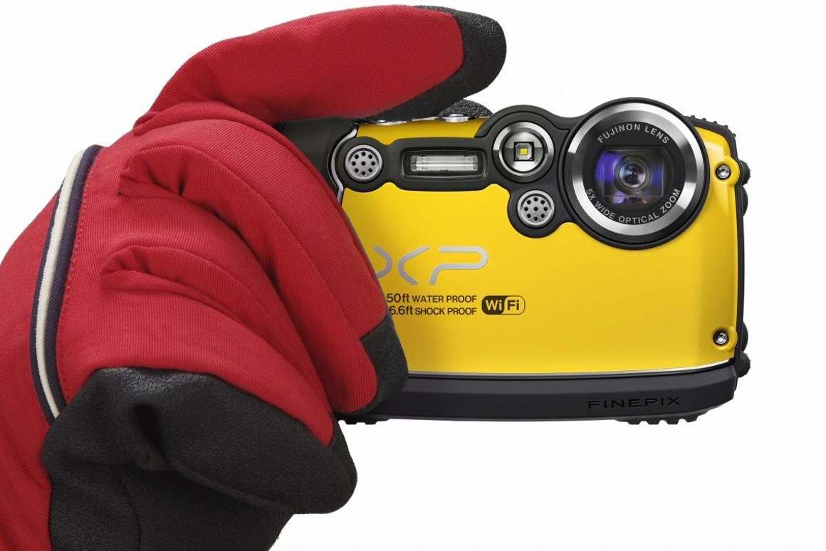 The tough Fujifilm FinePix XP200 also boasts Wi-Fi capabilities