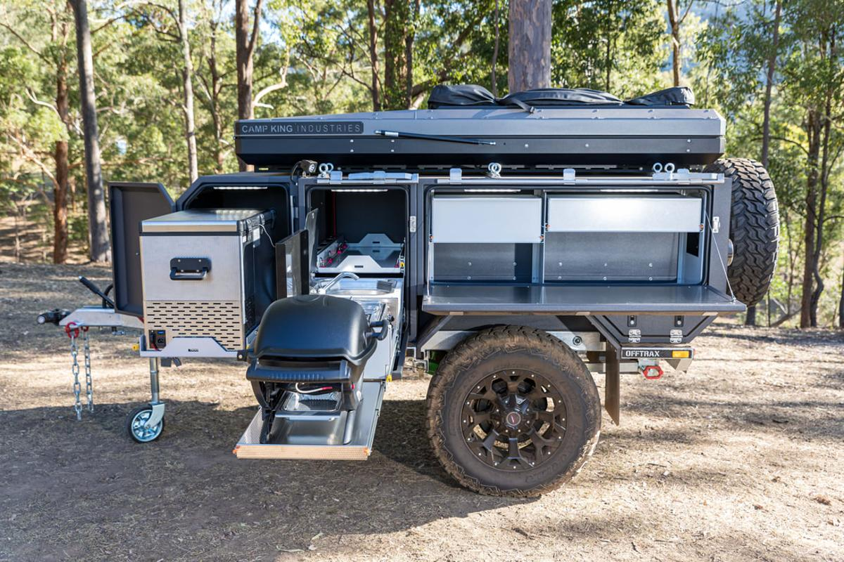 The Offtrax trailer makes cooking its top priority