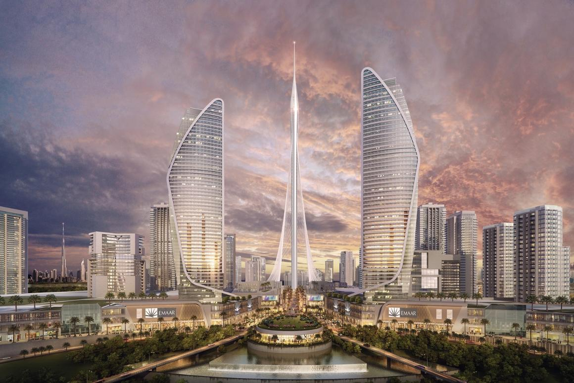 Due for location in Dubai Creek Harbor, Dubai Observation Tower will be shaped like a dart and rise to a fine point at its tip