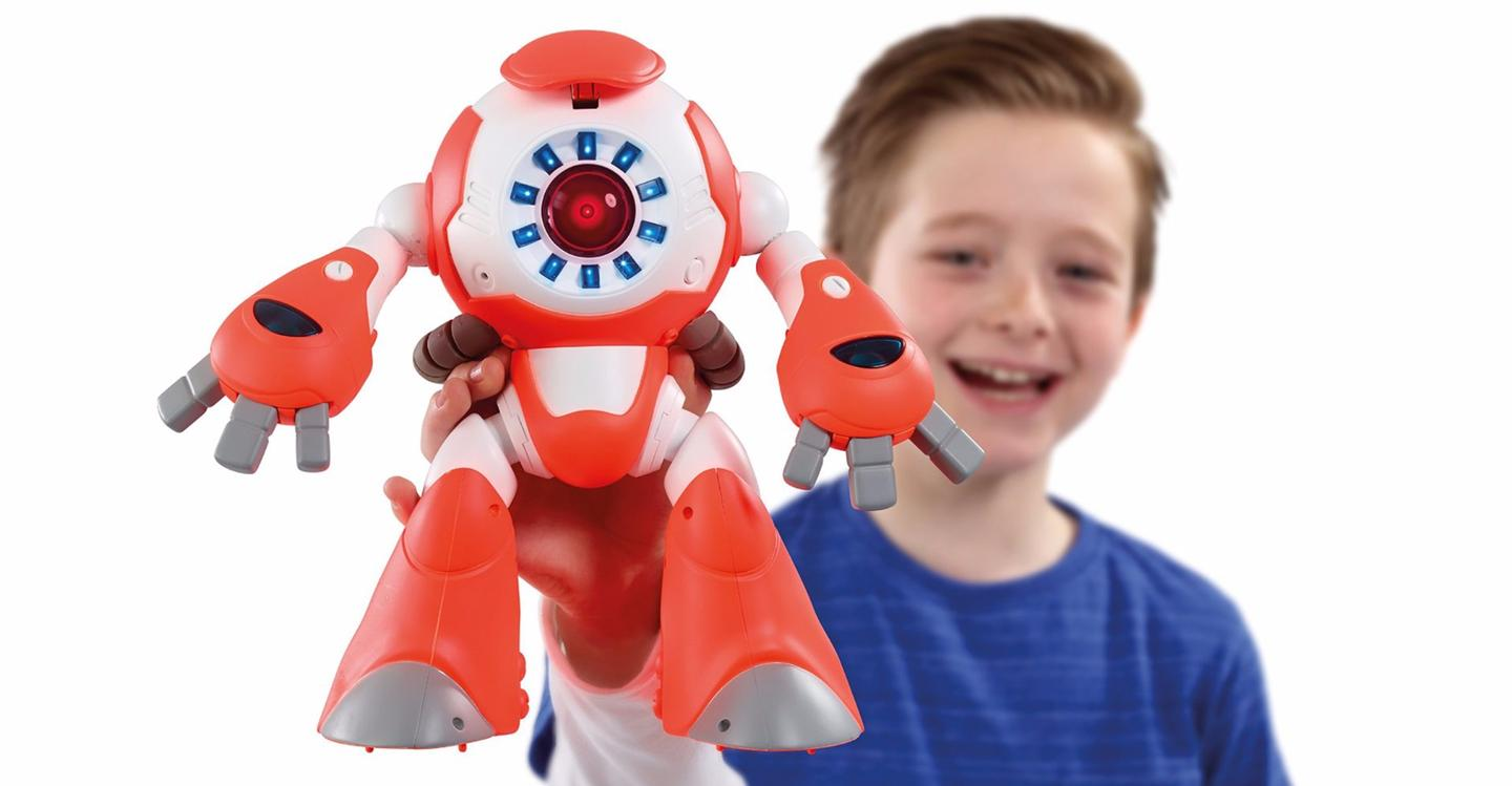 The i-Que Intelligent Robot is aimed at 6-12 year olds and costs $100