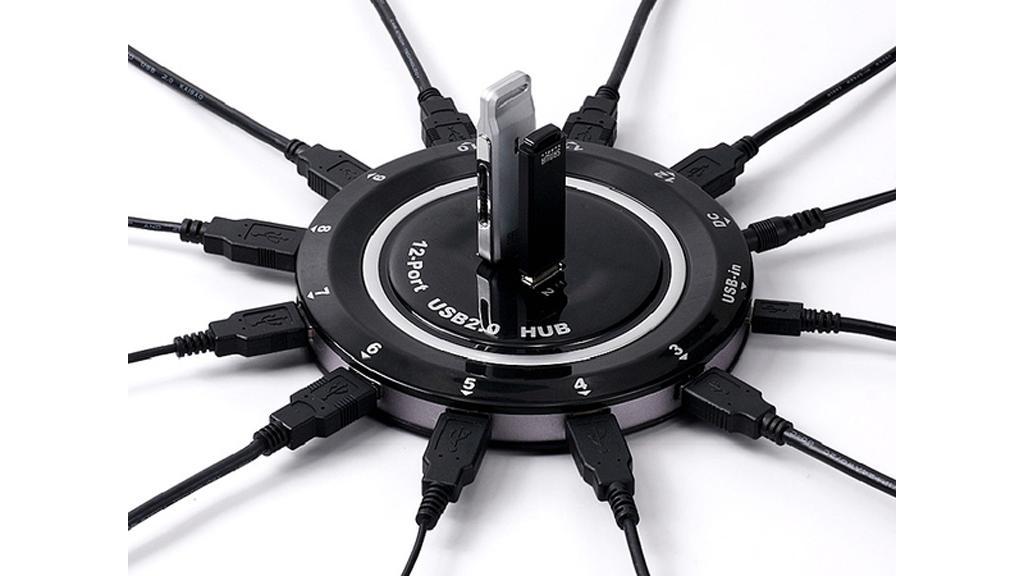 Sanwa's 12-port USB hub demands attention
