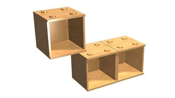 ModCubes are LEGO-like square boxes that can be stacked on top of each other
