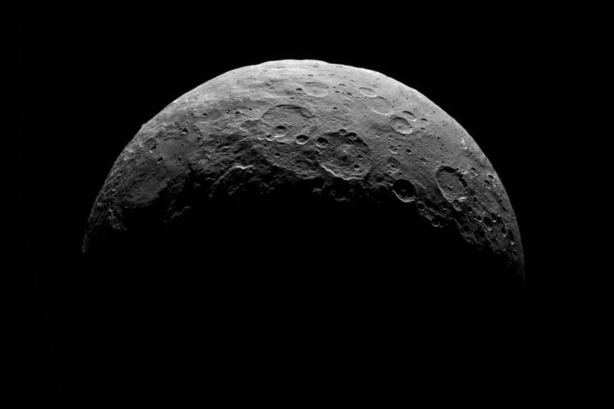 Ceres as imaged by Dawn on from a distance of 8,500 miles (13,500 kilometers)