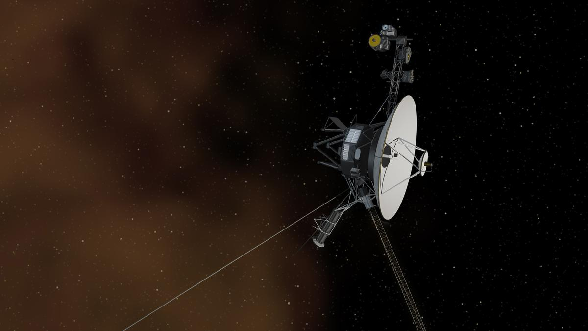 Artist's concept showing Voyager 2 entering interstellar space