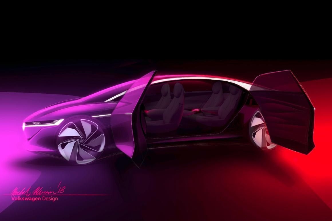 Volkswagen's Vizzion concept will premiere at the Geneva Auto Show next month