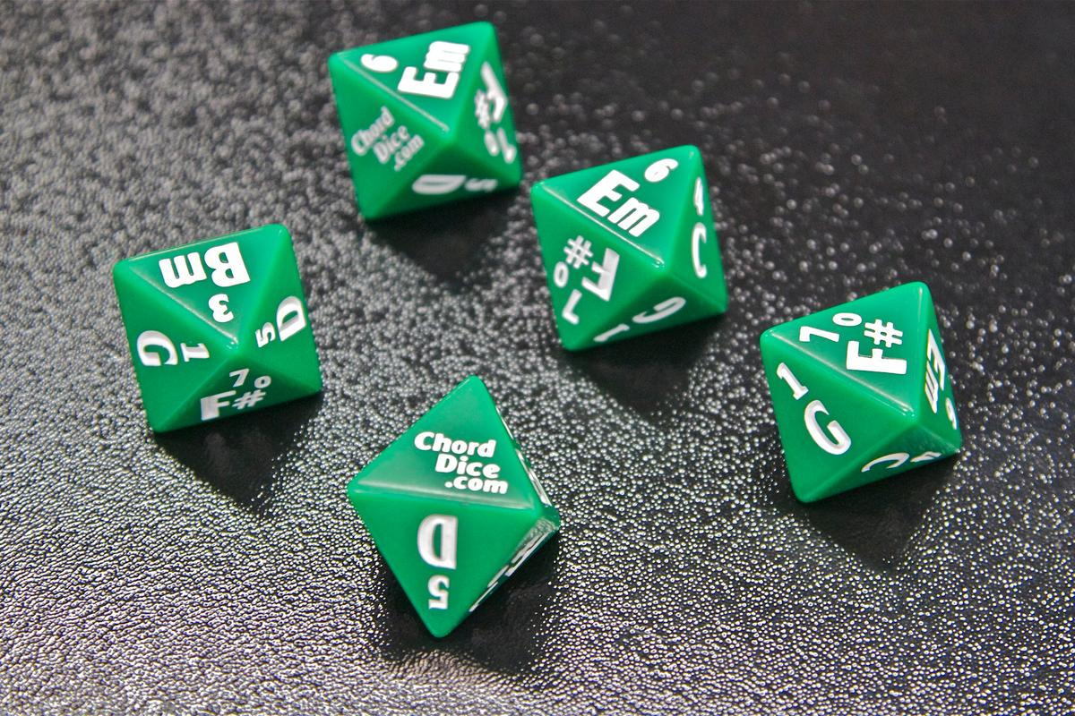 Chord Dice songwriting and teaching tool