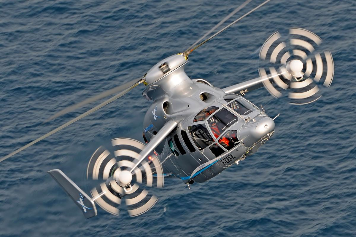 Eurocopter's X3 reached a level flight speed of 255 knots over the south of France on June 7 (Photo: Eurocopter/A.Pecchi)