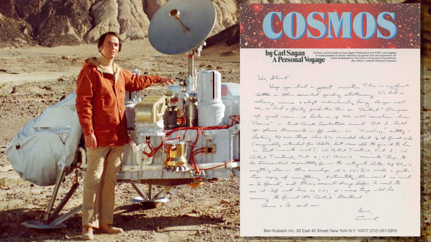The archives include 20 items signed by Carl Sagan