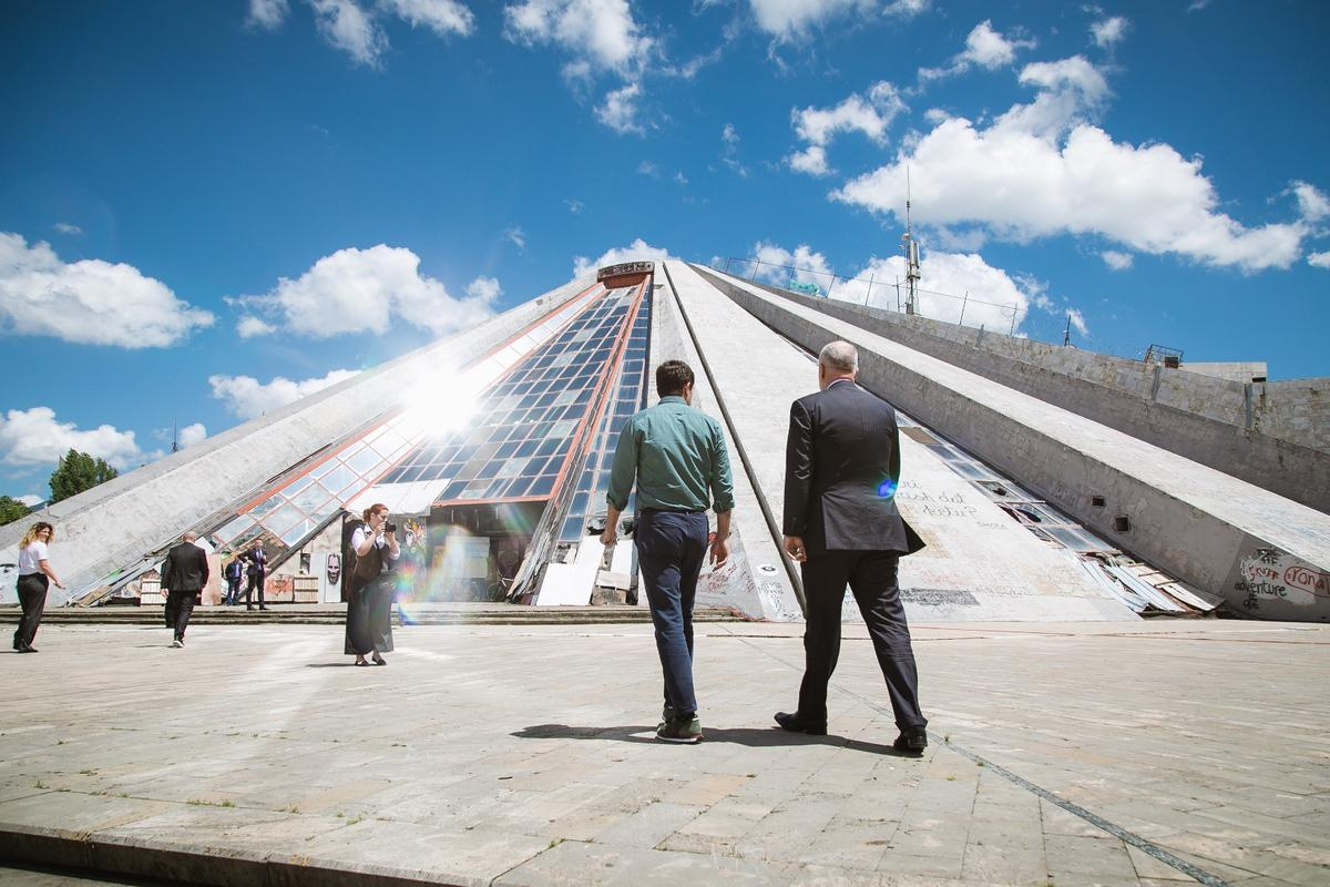 MVRDV says the Tirana Pyramid project will be completed by June, 2019