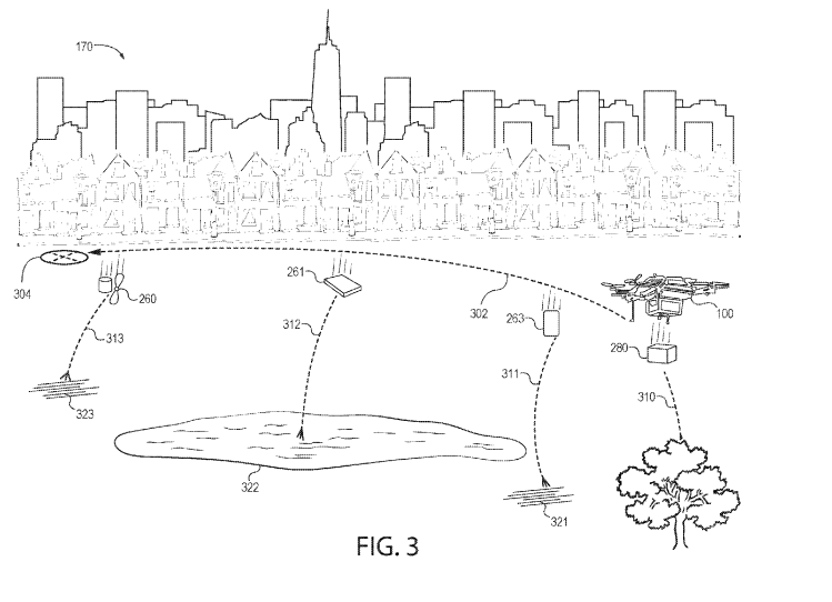 According to a patent recently assigned to Amazon, the company's drones could be fitted with a fragmentation controller, which dictates when certain parts should be broken off and released