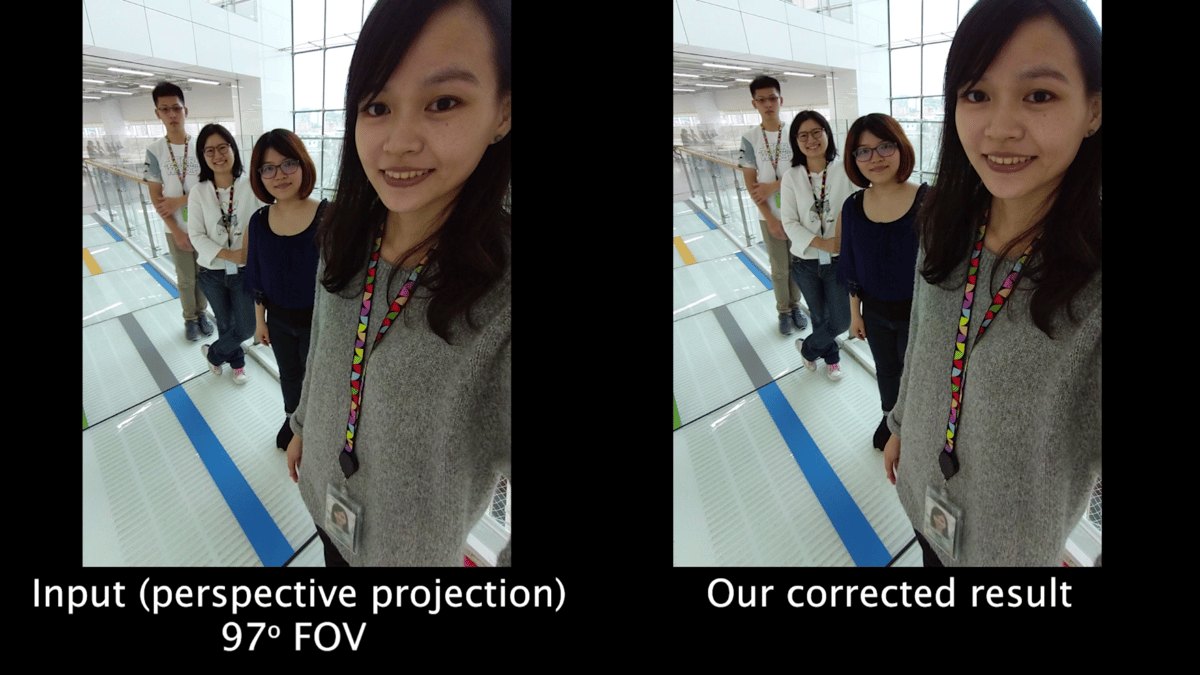 Correcting wide-angle face distortion without ruining the rest of the picture is a tricky problem, but a Google team believes it has the answer
